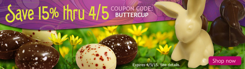 Happy Easter - Save 15% on Organic Chocolate