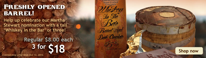 Whiskey in the Bar - Barrel Aged Chocolate
